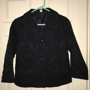 Old Navy black cropped jacket with 3/4 sleeve